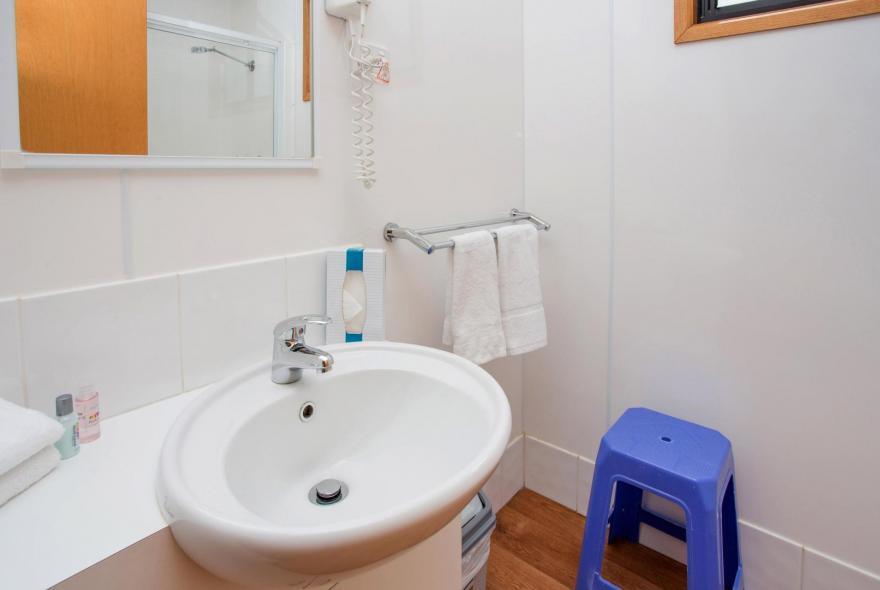 BIG4 Bendigo Park Lane Holiday Park - Family Cabin - Sleeps 6 - Bathroom