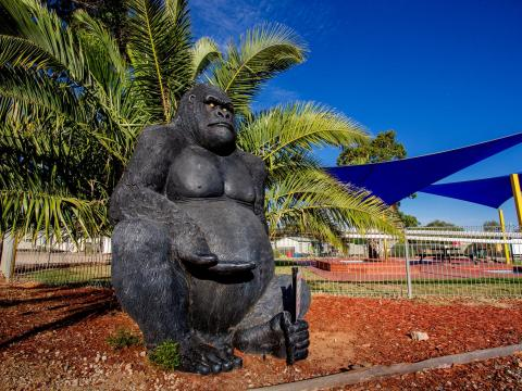 BIG4 Bendigo Park Lane Holiday Park - Gorge the Gorilla