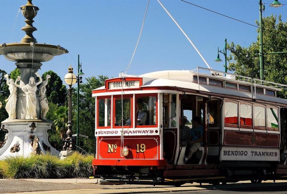 BIG4 Bendigo Park Lane Holiday Park - Things to do - Vintage Talking Tram Tours - Water Fountain