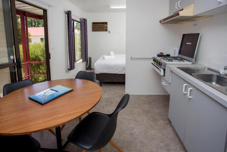 BIG4 Shepparton Park Lane Holiday Park - Budget Cabin - Sleeps 4 - Dining Kitchen