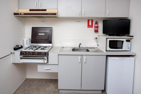 BIG4 Shepparton Park Lane Holiday Park - Budget Cabin - Sleeps 4 - Kitchen