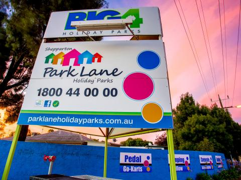 BIG4 Shepparton Park Lane Holiday Park - Entry Sign