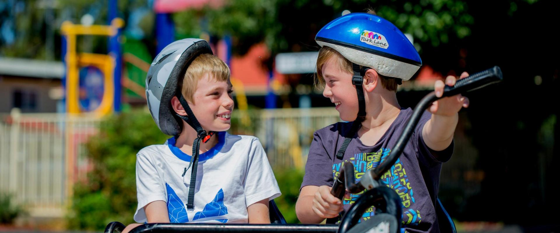 BIG4 Shepparton Park Lane Holiday Park - Boys on Pedal Go Karts