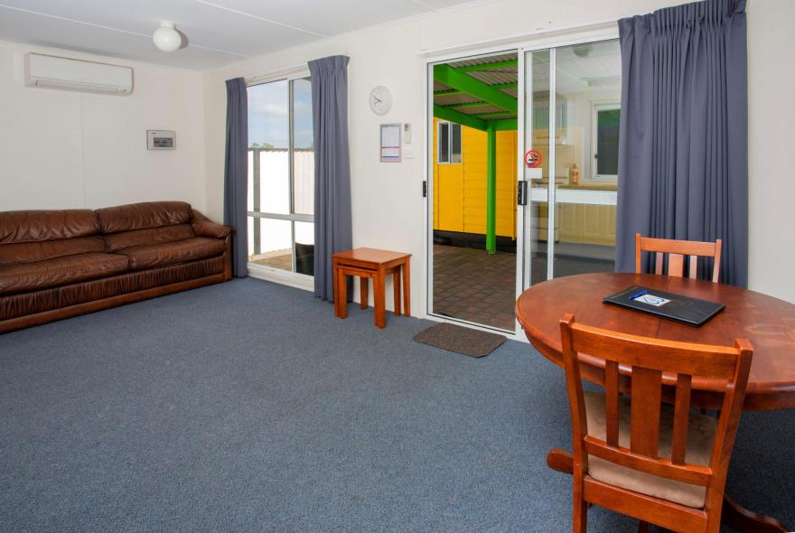 BIG4 Traralgon Park Lane Holiday Park - Standard Cabin - Sleeps 2 - Living and Dining