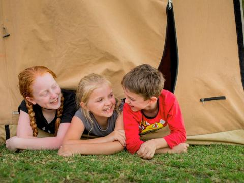 BIG4 Traralgon Park Lane Holiday Park - Kids Camping in Tent