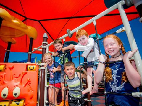 BIG4 Traralgon Park Lane Holiday Park - Kids enjoying outdoor playground