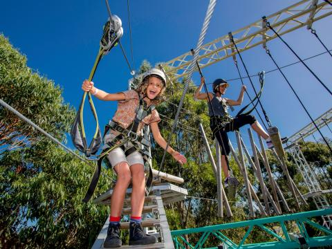 BIG4 Traralgon Park Lane Holiday Park - Adventure Ropes Course - Mother and Son