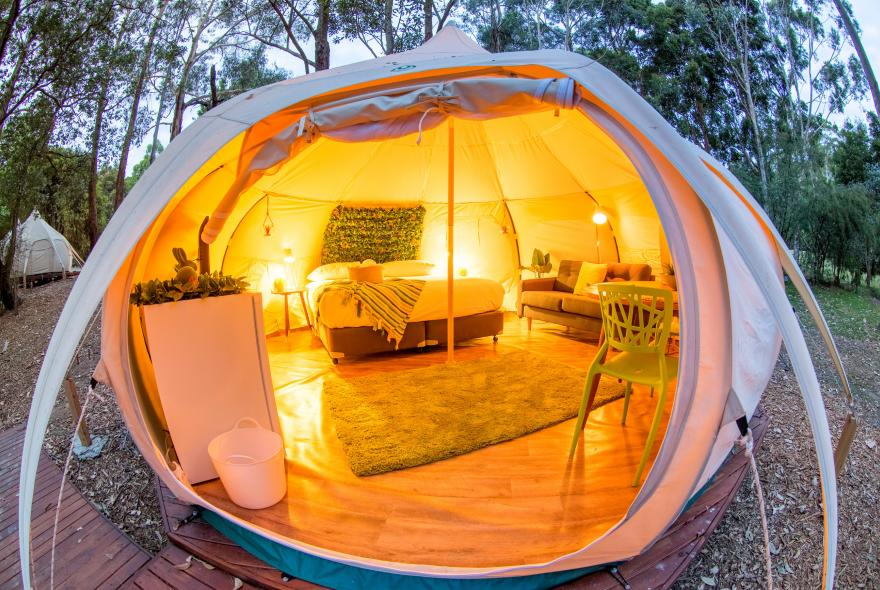 BIG4 Yarra Valley Park Lane Holiday Park - Glamping - Belle Tent - Single - Natural Style