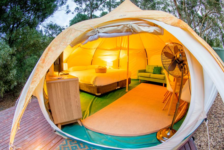 BIG4 Yarra Valley Park Lane Holiday Park - Glamping - Belle Tent - Family - Main Tent Opening