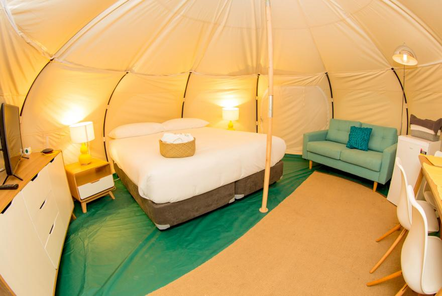 BIG4 Yarra Valley Park Lane Holiday Park - Glamping - Belle Tent - Family - Interior Image