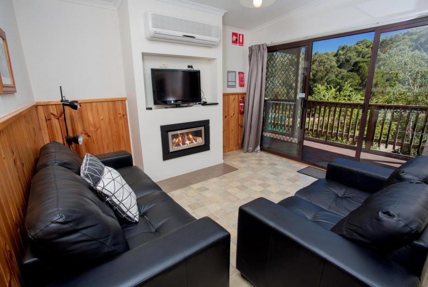 BIG4 Yarra Valley Park Lane Holiday Park - Lakeview Cabin - 2 Bedroom - Living area