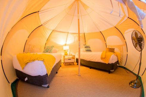 BIG4 Yarra Valley Park Lane Holiday Park - Glamping - Belle Tent - Family - King Single Beds