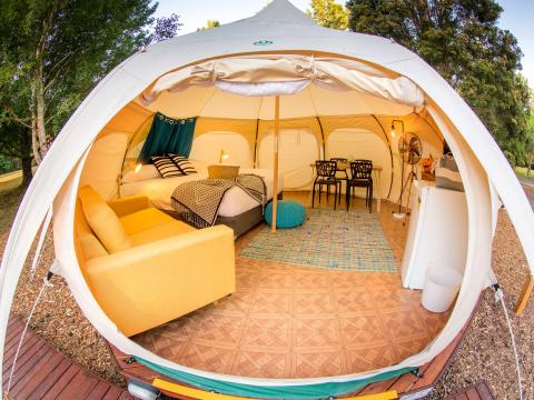 BIG4 Yarra Valley Park Lane Holiday Park - Glamping Belle Tent - Family - Main Tent Interior