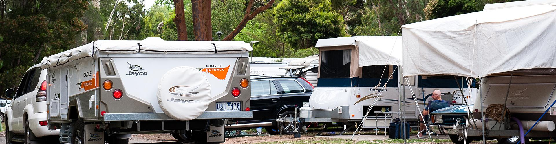 BIG4 Yarra Valley Park Lane Holiday Park - Powered Caravan and Motorhome sites - Car Driving in