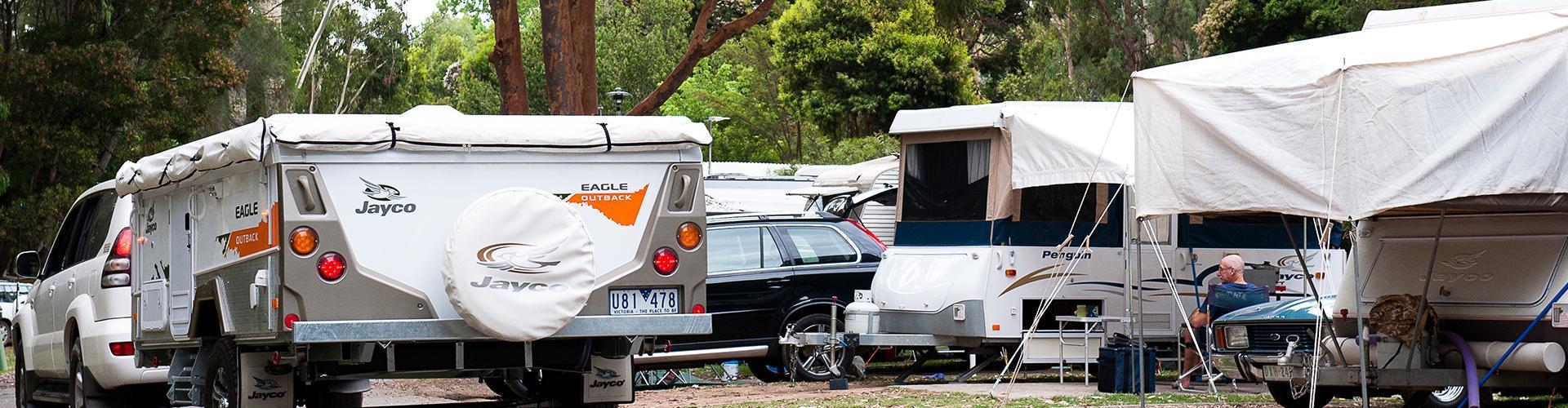 BIG4 Yarra Valley Park Lane Holiday Park - Powered Caravan and Motorhome sites - Car Driving in