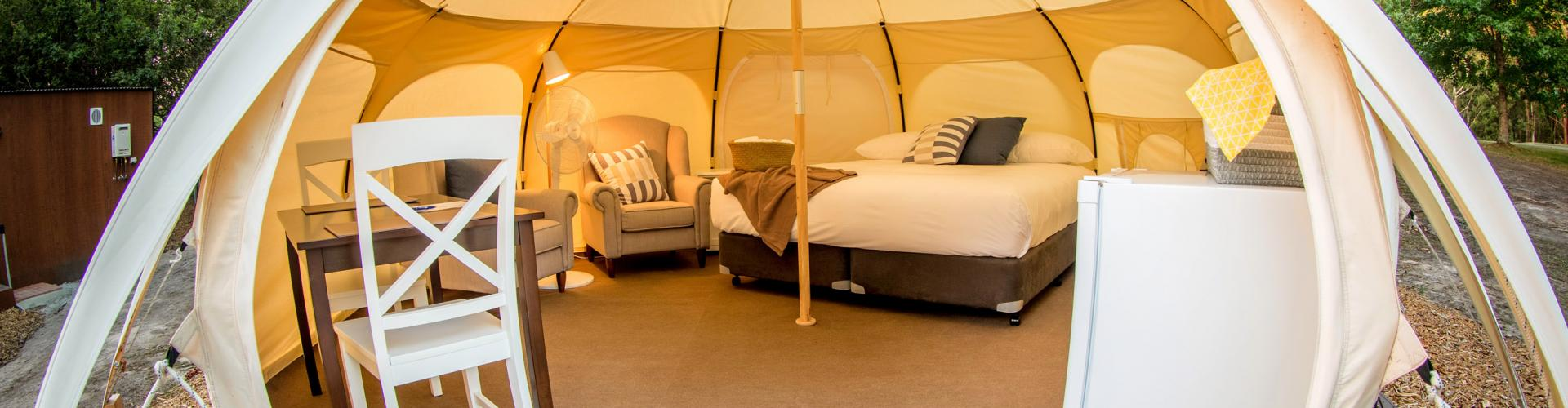BIG4 Yarra Valley Park Lane Holiday Park - Glamping - Belle Tent - Single - Opening Image